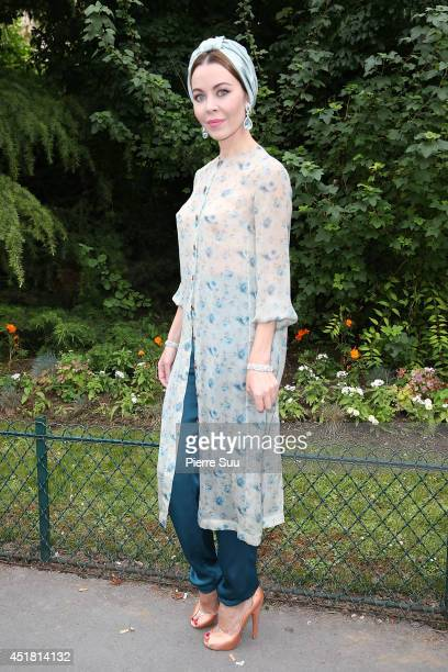 Ulyana Sergeenko attends the Giambattista Valli show as part of Paris Fashion Week Haute Couture Fall/Winter 20142015 on July 7 2014 in Paris France
