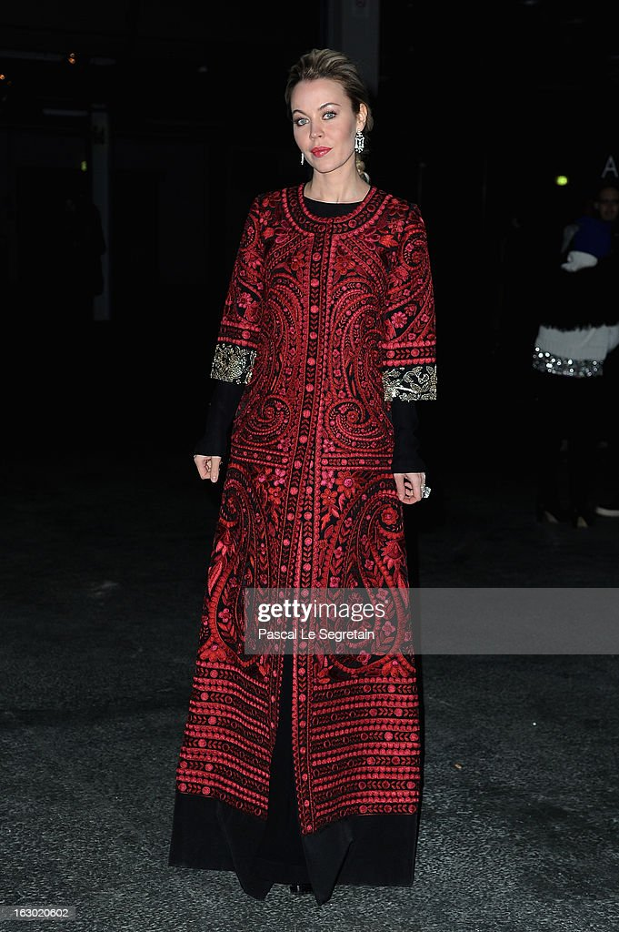 Ulyana Sergeenko attends the Givenchy Fall/Winter 2013 Ready-to-Wear show as part of Paris Fashion Week on March 3, 2013 in Paris, France.