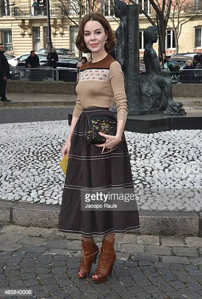 Ulyana Sergeenko attends the Miu Miu show as part of Paris Fashion Week Fall Winter 2015/2016 on March 11 2015 in Paris France