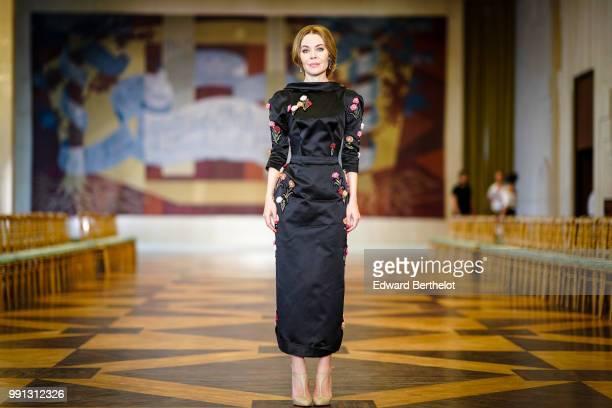 Ulyana Sergeenko attends the Ulyana Sergeenko Haute Couture Fall Winter 2018/2019 show as part of Paris Fashion Week on July 3 2018 in Paris France