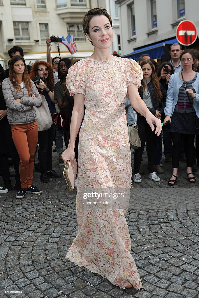 Ulyana Sergeenko attends the Valentino show as part of Paris Fashion Week Haute-Couture Fall/Winter 2013-2014 at Hotel Salomon de Rothschild on July 3, 2013 in Paris, France.