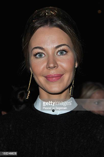 Ulyana Sergeenko attends the Valentino Spring / Summer 2013 show as part of Paris Fashion Week at Espace Ephemere Tuileries on October 2 2012 in...
