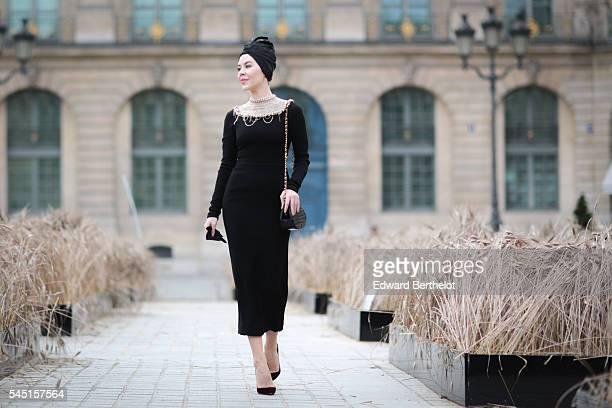 Ulyana Sergeenko during Paris Fashion Week Haute Couture F/W 2016/2017 on July 5 2016 in Paris France