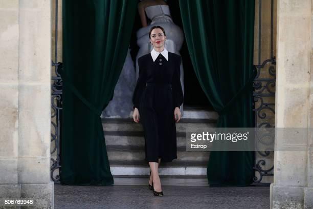 Ulyana Sergeenko walks the runway during the Ulyana Sergeenko Haute Couture Fall/Winter 20172018 show as part of Haute Couture Paris Fashion Week on...