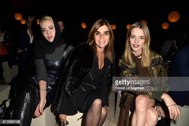 Ulyana SergeenkoCarine Roitfeld and Natalia Vodianova attend the Givenchy show as part of the Paris Fashion Week Womenswear Spring/Summer 2017 on...