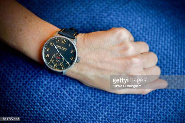 Ulysse Nardin Marine Chronometer Torpilleur is shown during the Ulysse Nardin Pre SIHH press event at the RitzCarlton on 8 November 2017 in Geneva...