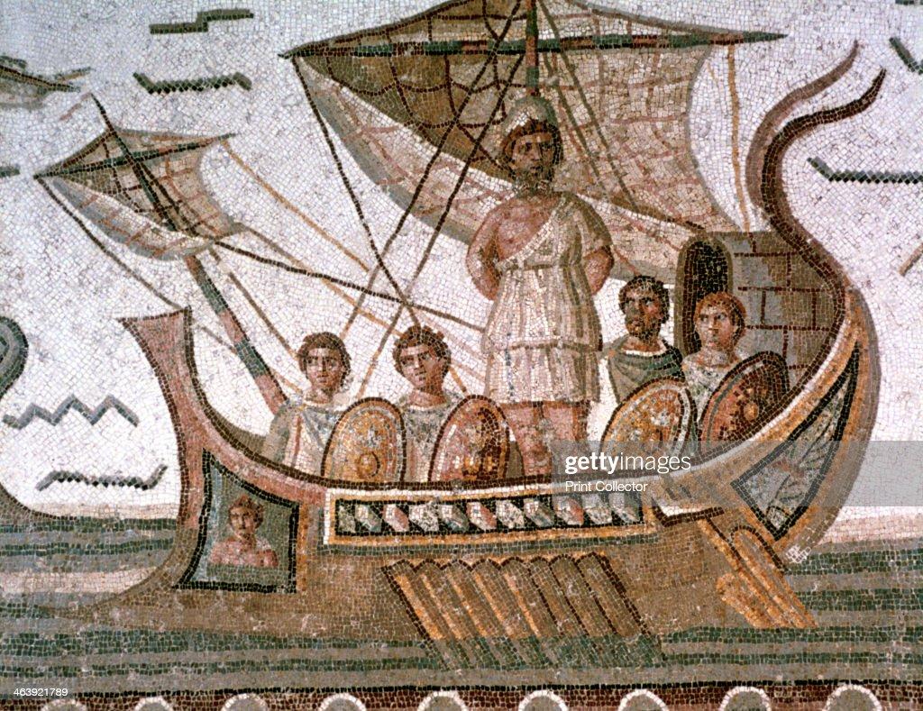 Ulysses and the sirens, Roman mosaic, 3rd century AD. : Foto di attualità