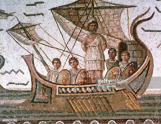 Ulysses and the sirens Roman mosaic 3rd century AD From the Odyssey by Homer Located in the collection of the Bardo Museum Tunisia