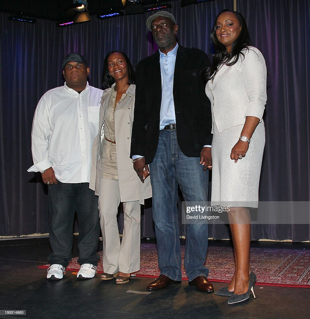 Ulysses Carter, Donna Houston, Gary Houston and Pat Houston attend the GRAMMY Museum press event for 'Whitney! Celebrating the Musical Legacy of Whitney Houston' at The GRAMMY Museum on August 15, 2012 in Los Angeles, California.