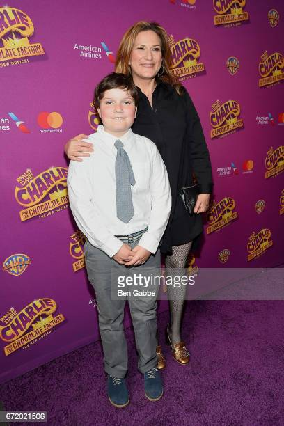 """Ulysses McKittrick and actress Ana Gasteyer attend the """"Charlie And The Chocolate Factory"""" Broadway opening night at Lunt-Fontanne Theatre on April..."""