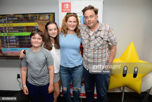 Ulysses McKittrick, Frances Mary McKittrick, Ana Gasteyer, and Charlie McKittrick stopped by Nintendo at the TV Insider Lounge to check out Nintendo...