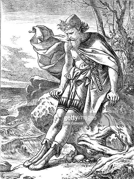 Ulysses on Ogygia 1864 Ulysses or Odysseus mythical king of Ithaca hero of Homer's Odyssey was shipwrecked on the island of Ogygia The sea nymph...