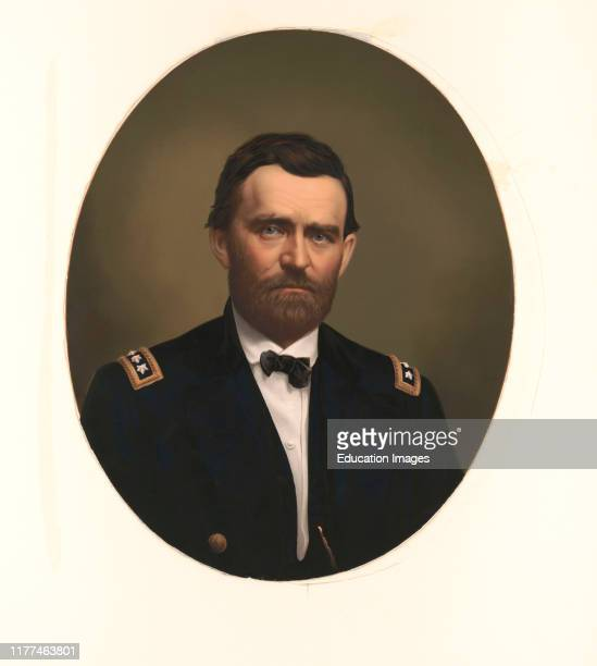 Ulysses S. Grant, 1822-85, 18th President of the United States 1869-77, General of Union Army during American Civil War, Head and Shoulders Portrait,...