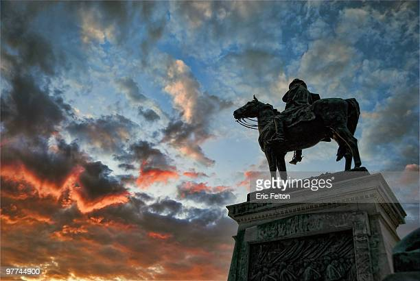 Ulysses S. Grant Memorial at sunset