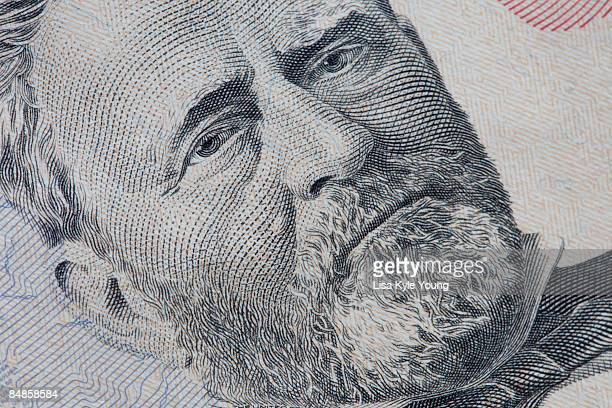 ulysses s. grant on a us fifty dollar bill - ulysses s grant stock pictures, royalty-free photos & images