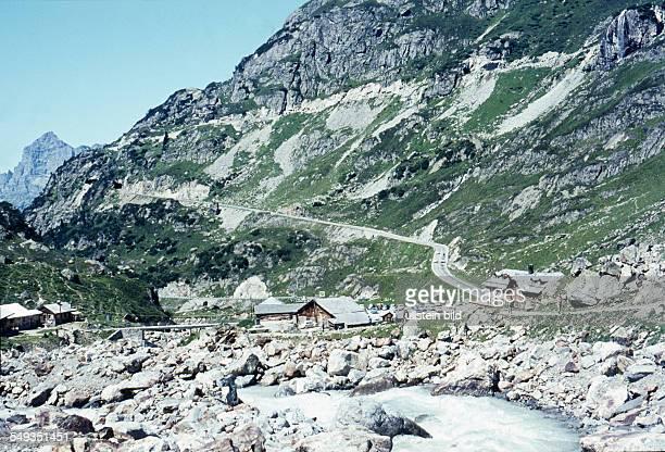 CH um 1965 Hotel Restaurant Steingletscher am Sustenpass in den Urner Alpen
