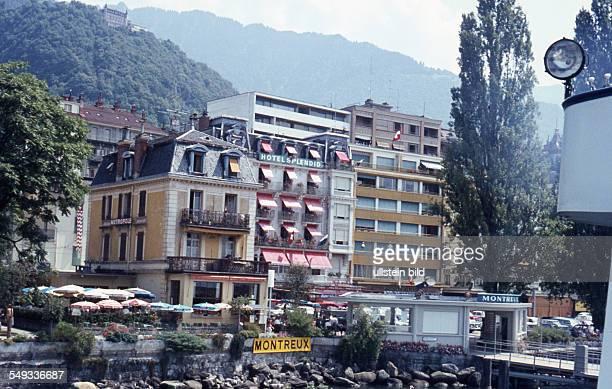 CH um 1967 Montreux Stadtansicht