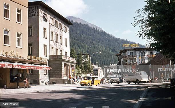 CH um 1973 Stadtansicht Davos