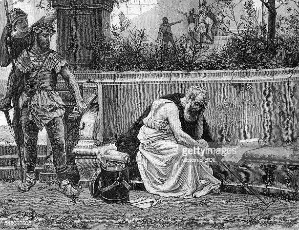 um 287 v Chr 212 v ChrMathematiker und Physiker der griechischen AntikeTod des Archimedes historisierender Stich von Gustave Courtois