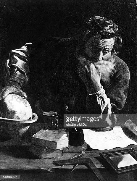 um 287 v Chr 212 v ChrMathematiker und Physiker dergriechischen Antike Gemälde von Domenico Fetti MalerItalien undatiert