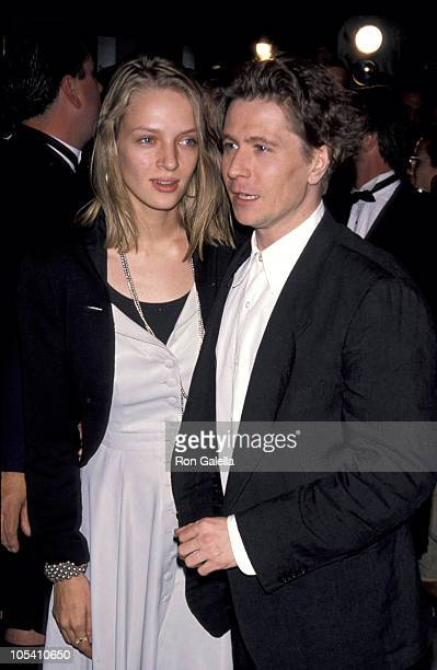 Uma Thurman and Gary Oldman during 'State of Grace' New York City Premiere September 9 1990 at Loews 19th Street East Theater in New York City New...
