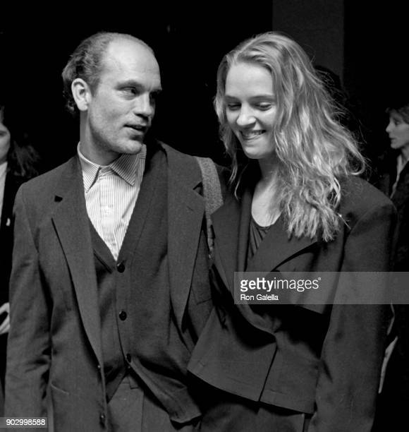 Uma Thurman and John Malkovich attend 'Dangerous Liaisons' Premiere on December 19 1988 at the Museum of Modern Art in New York City