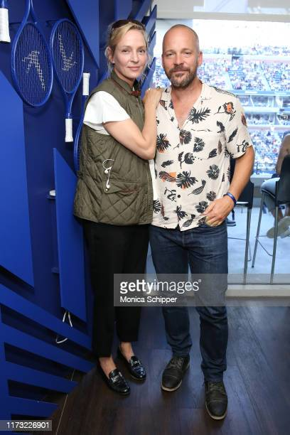 Uma Thurman and Peter Sarsgaard attend as Grey Goose toasts to the 2019 US Open at Arthur Ashe Stadium on September 08, 2019 in New York City.