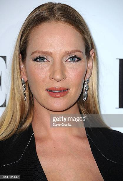 Uma Thurman arrives at the 19th Annual ELLE Women In Hollywood Celebration at Four Seasons Hotel Los Angeles at Beverly Hills on October 15 2012 in...