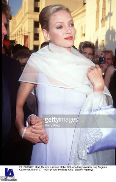 Uma Thurman arrives at the 67th Academy Awards Los Angeles California March 27 1995