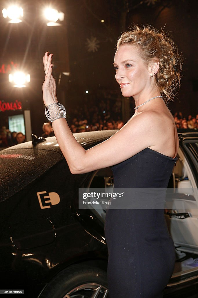 Uma Thurman arrives at the Bambi Awards 2014 on November 13, 2014 in Berlin, Germany.