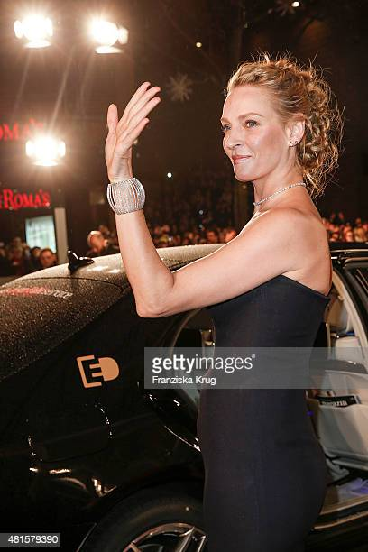 Uma Thurman arrives at the Bambi Awards 2014 on November 13 2014 in Berlin Germany
