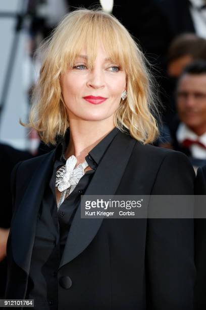 Uma Thurman arrives at the premier for 'D´Apres Une Histoire Vraie' during the 70th International Cannes Film Festival at the Palais des Festivals on...