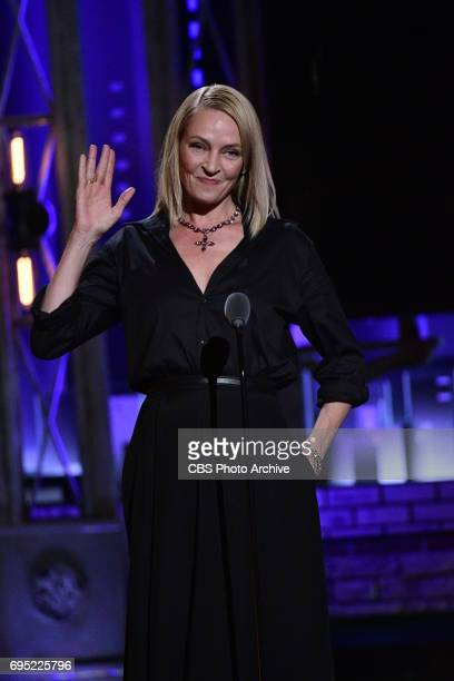 Uma Thurman at THE 71st ANNUAL TONY AWARDS broadcast live from Radio City Music Hall in New York City on Sunday June 11 2017 on the CBS Television...