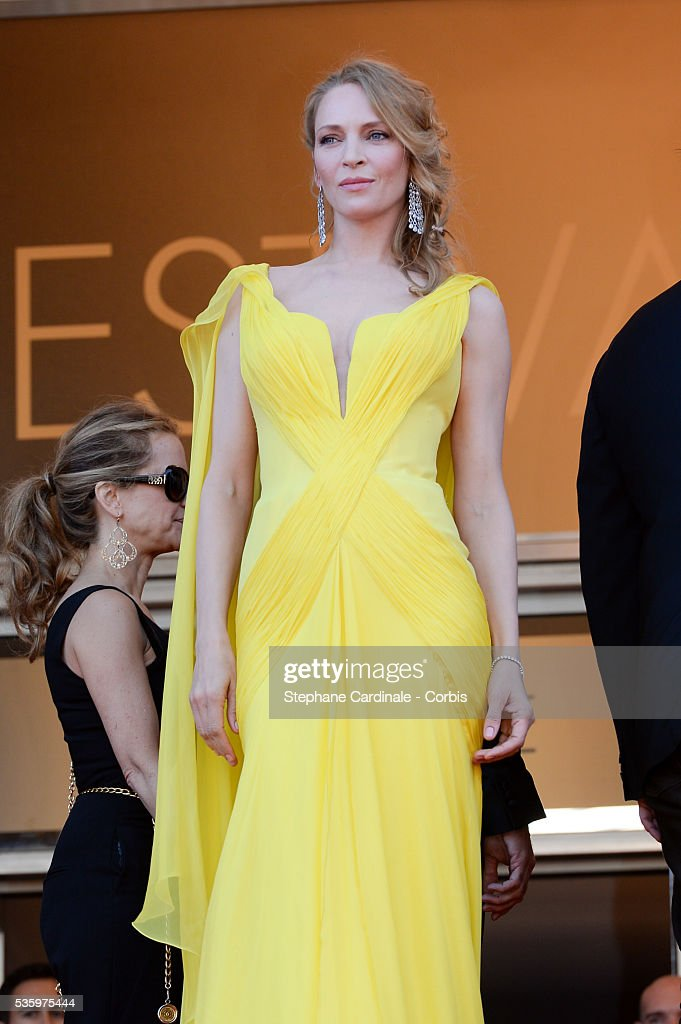 Uma Thurman at the 'Clouds Of Sils Maria' Premiere at the 67th Annual Cannes Film Festival