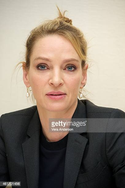 Uma Thurman at 'The Slap' Press Conference at the Four Seasons Hotel on January 16 2015 in Beverly Hills California