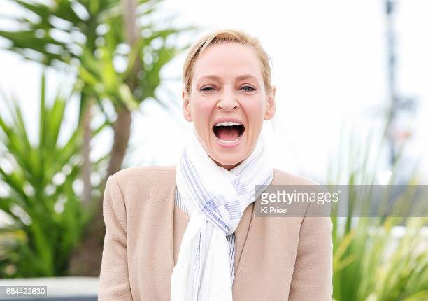 Uma Thurman attends Jury Un Certain Regard Photocall during the 70th annual Cannes Film Festival at Palais des Festivals on May 18 2017 in Cannes...