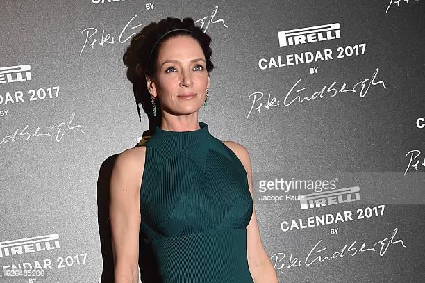 Uma Thurman attends Pirelli Calendar 2017 by Peter Lindberg photocall at La Cite Du Cinema on November 29 2016 in SaintDenis France