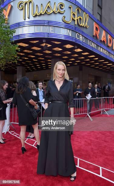 Uma Thurman attends the 2017 Tony Awards at Radio City Music Hall on June 11, 2017 in New York City.