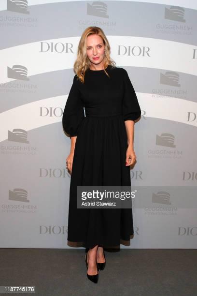 Uma Thurman attends the 2019 Guggenheim International Gala at Solomon R Guggenheim Museum on November 14 2019 in New York City