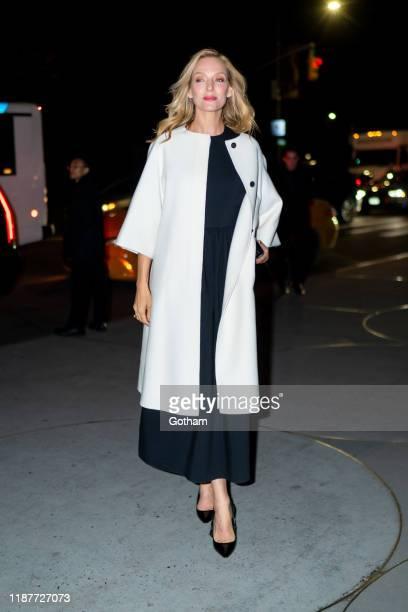 Uma Thurman attends the 2019 Guggenheim International Gala on November 14 2019 in New York City