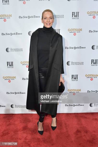 Uma Thurman attends the 2019 IFP Gotham Awards at Cipriani Wall Street on December 02, 2019 in New York City.