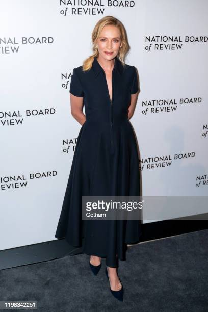 Uma Thurman attends the 2020 National Board of Review Gala at Cipriani 42nd Street on January 08, 2020 in New York City.