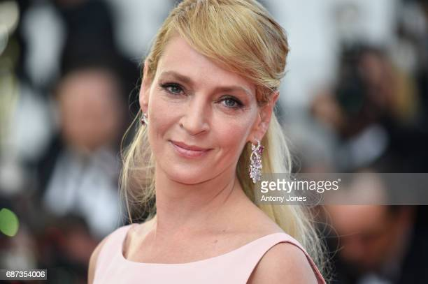 Uma Thurman attends the 70th Anniversary of the 70th annual Cannes Film Festival at Palais des Festivals on May 23, 2017 in Cannes, France.