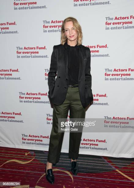 Uma Thurman attends The Actors Fund 2018 Gala at Marriott Marquis Times Square on May 14 2018 in New York City