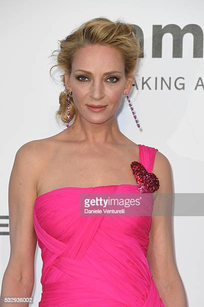 Uma Thurman attends the amfAR's 23rd Cinema Against AIDS Gala at Hotel du CapEdenRoc on May 19 2016 in Cap d'Antibes