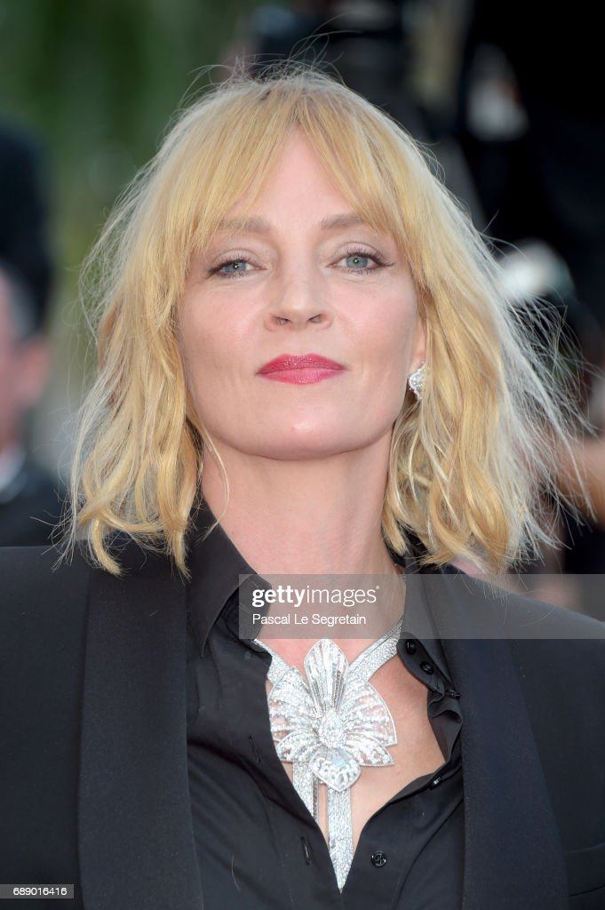 Uma Thurman attends the 'Based On A True Story' screening during the 70th annual Cannes Film Festival at Palais des Festivals on May 27, 2017 in Cannes, France.