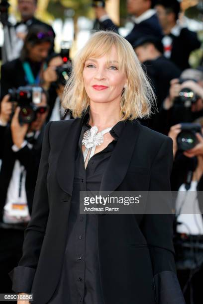 "Uma Thurman attends the ""Based On A True Story"" screening during the 70th annual Cannes Film Festival at Palais des Festivals on May 27, 2017 in..."