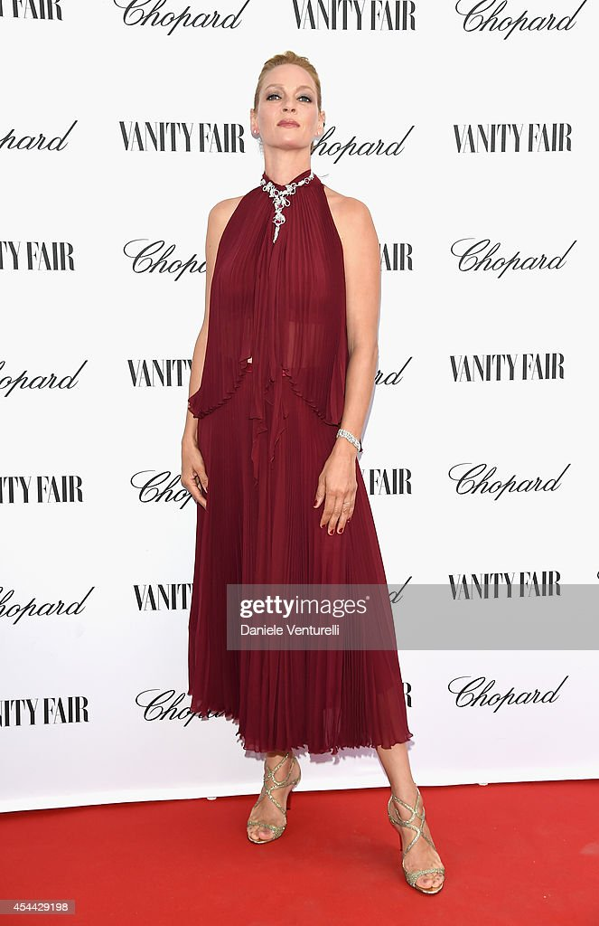 Chopard And Vanity Fair Present 'Backstage At Cinecitta' Exhibition - Red Carpet - 71st Venice Film Festival : News Photo