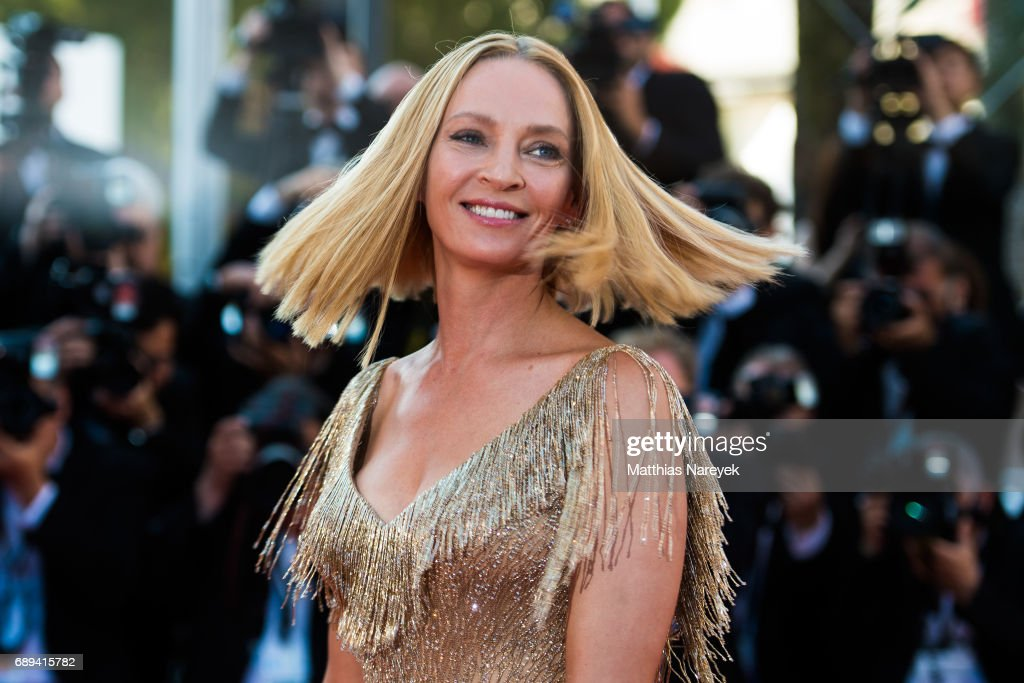 Uma Thurman attends the Closing Ceremony of the 70th annual Cannes Film Festival at Palais des Festivals on May 28, 2017 in Cannes, France.