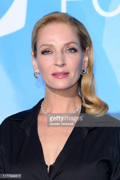 Uma Thurman attends the Gala for the Global Ocean hosted by H.S.H. Prince Albert II of Monaco at Opera of Monte-Carlo on September 26, 2019 in...